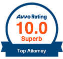 Avvo Rating 10.0 Superb Top Attorney