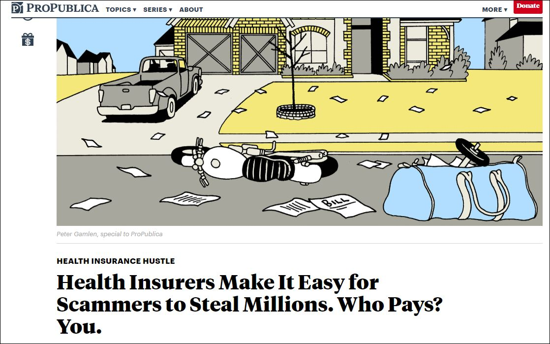 Waste, Fraud, And Abuse? For Health Insurers, Fat Profits
